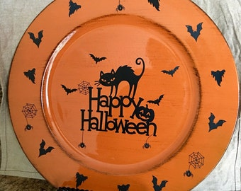 Halloween decor plastic Plate