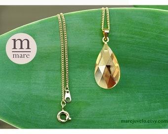 Swarovski Pear Shaped Necklace