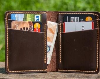 Leather wallet, minimalism