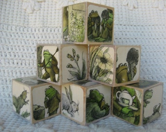Frog & Toad Picture Book Wooden Blocks