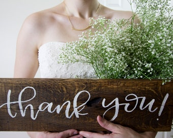 Wood Wedding Sign. Plywood Wedding Sign. Wedding Thank You Sign. Plywood Thank You Sign. Wedding Thank You Sign. Wood Sign. Plywood Sign.