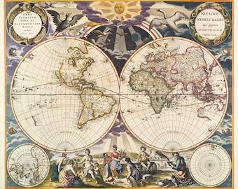 Nieuwe Werelt kaert 1668