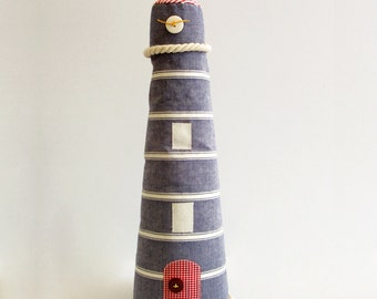 Lighthouse marine blue / cotton & linen