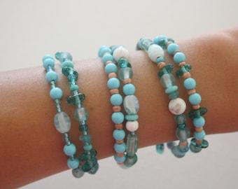 sea glass look wrist wraps