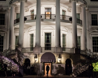 President Barack Obama Enters The South Portico of the White House - 8X10 or 11X14 Photo (ZZ-513)