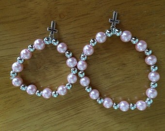 Matching Mother Daughter Pearl Bracelets