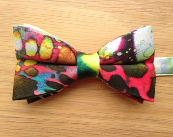 Men's Bow Tie, Bow Tie for Men, Funky Multicoloured Adjustable Men's Bow Tie