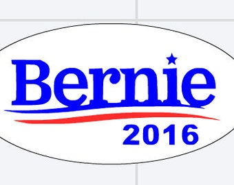Mini Bernie oval stickers
