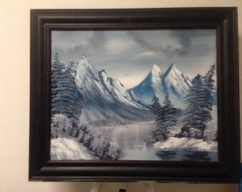 "Winter Mountain 16""x20"""