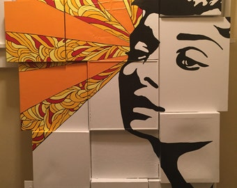 wall art pop art artwork painting stencil