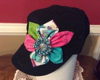 Owl handmade cadet hat