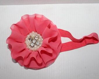 Girls Chiffon Jeweled Headband