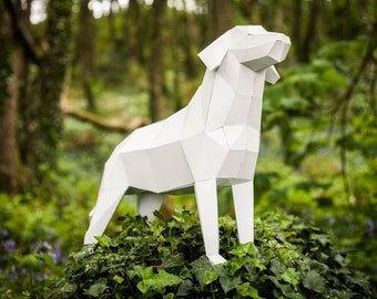 "Labrador Dog, Printable Papercraft Template. ""Man's best friend"",  special DIY Gift for fathers day."