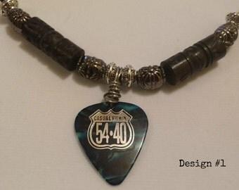 54-40 Guitar Pick Necklace