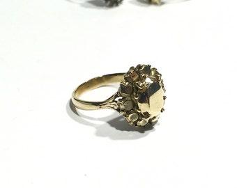Saphire bronze ring