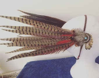 Feather headdress / side feather headband
