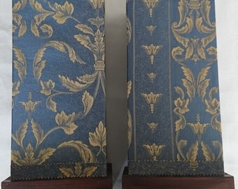 Pair of blue and gold Lamps