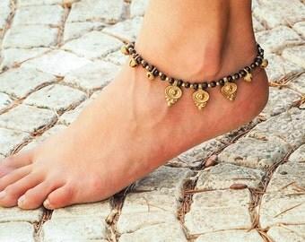 Brass Anklet // Indian Anklet // Women Ankle Bracelet // Hippie Anklet // Beach Anklet // Oriental Anklets // Made To Order Anklet
