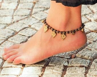 Ankle Bracelet // Foot Jewelry // Anklet for Women // Summer Anklet // Brass Anklet // Beach Anklet // Made To Order Anklet