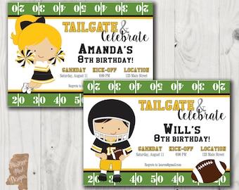Birthday Invitation - Southern Miss Football Player or Cheerleader