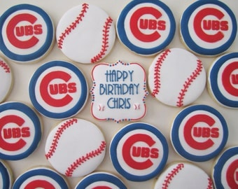 Chicago Cubs Cookies/baseball cookies
