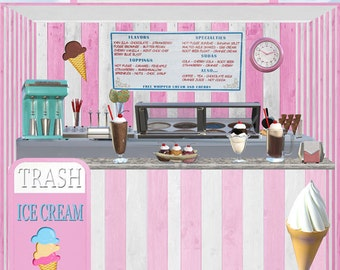 Ice Cream Stand Graphic Download 300dpi
