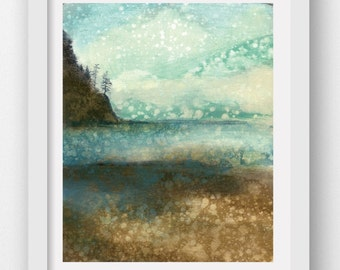MOUNTAIN MIST, limited edition art print, coastal art, Oregon coast, Oregon art