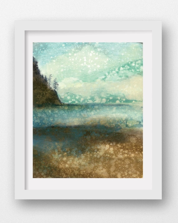 MOUNTAIN MIST, limited edition giclee art print, coastal art, Oregon coast, Oregon art