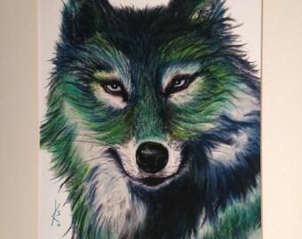 Wolf giclee print