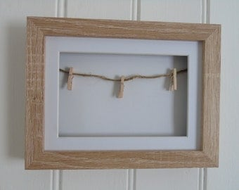 Phot Display Frame with String and Pegs