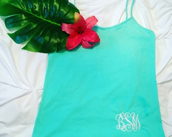 ON SALE NOW!! Spagetti strap monogram top!!!