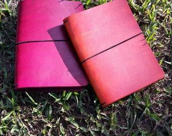 A6 Travelers Notebook, Fauxdori, Leather Travelers Notebooks, Crisdori Studios, A6 Tahitian Moon