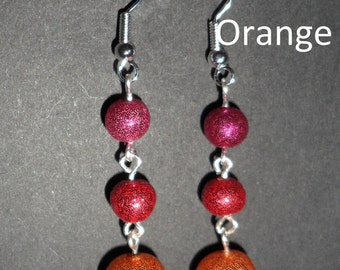Sparkly polymer earrings