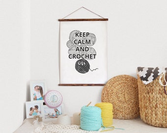 Printable Crochet quote Black and White print Funny quote Wall art quote Crochet print Knit quote Keep Calm Crochet Downloadable quote