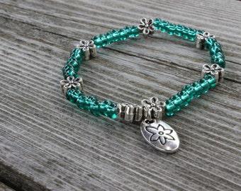 turquoise charm bracelet