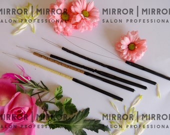 5 Pulling Hoops Loops to fit Micro Ring Hair Extension Tools ready loaded with Micro Rings