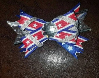 4th of July bow clip