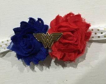 Girls Headbands, Photo Props, Head accessories, Hair Accessory - Wonder Woman Headband