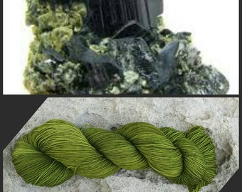 Hand Dyed Yarn, Merino and Nylon Fingering Weight Sock Yarn Perfect for Socks, Shawls and Other Lightweight Accessories - Hornblende