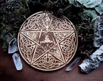 Altar pentacle Wicca