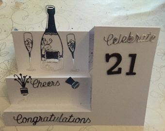 Celebrate 21 birthday card