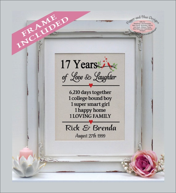 wedding anniversary gifts, 17 years married, 17 years together, gift ...