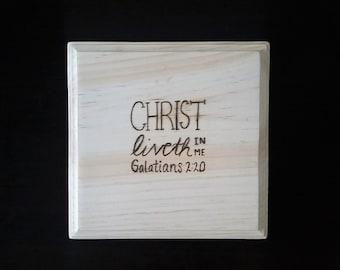 Woodburned Bible Verse Wall Decor