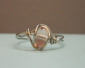 Clear Pink Ring