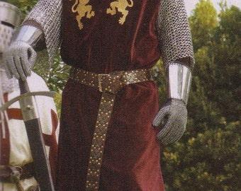 New Medieval Renaissance Tudor Lionheart Knight Tunic Robe Costume