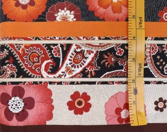 Marcus Fabrics, Heat Wave wide Strip by Michele D'Amore, R16 M440, 112D, quilting fabric