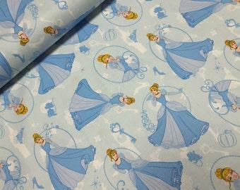 Disney Cinderella by Camelot Cottons 100% Cotton Fabric per half yard