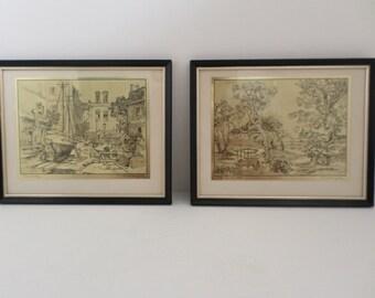 Lionel Barrymore Gold Etched Framed Art