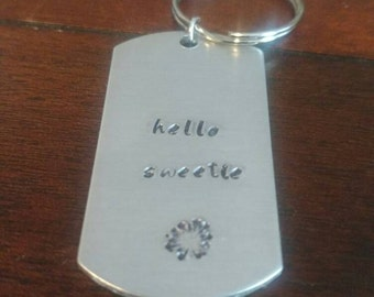 Hello sweetie - River Song keychain