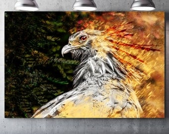 Phoenix (Phoenix) - draw on canvas varnish Premium canvas - Photo and creating Global Graphic Arts